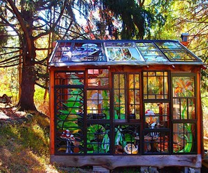 The designer Neile Cooper works in a glass house
