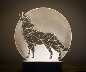 Geometric Animal Lamps by SturlesiDesign