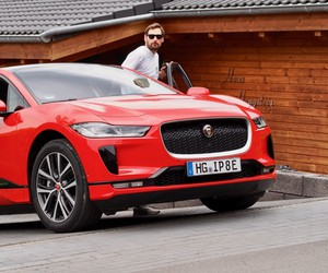 With the Jaguar I-Pace in the Eifel
