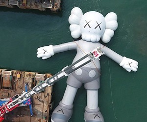 Big floating Sculpture by KAWS