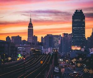 Beautiful View of Manhattan at Sunset