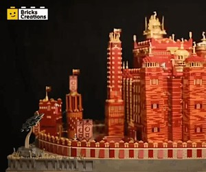 Motorized LEGO Game of Thrones Red Keep – 125,000