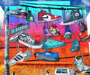 Massive Sneaker-Mural by Artist Madsteez in NYC