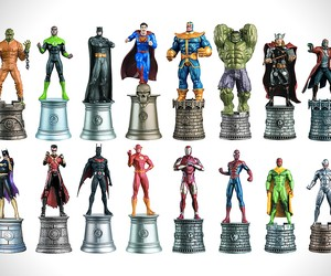Marvel vs. DC Chess Pieces