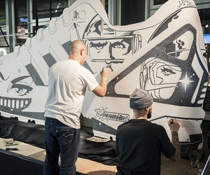 Sneaker Art @ #miadidasstudio in Berlin/Germany