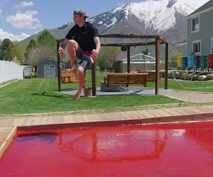 The world's largest jello pudding pool