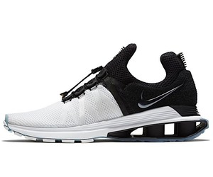 The Nike Shox Gravity in black and white