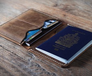 Personalized Leather Passport Wallet