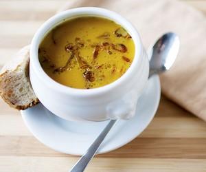 Pumpkin Soup with Crispy Shallots