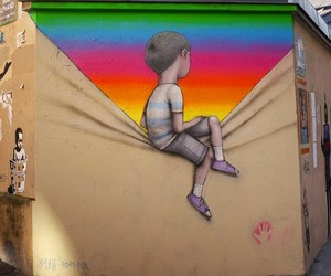 Streetart: Murals of Children Staring into Colors