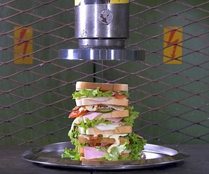 The hydraulic sandwich press