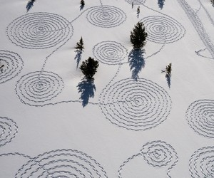 Snow Drawings by Sonja Hinrichsen