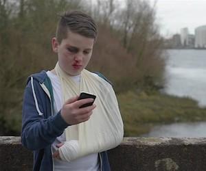 Luke Culhane shot a video against cyberbullying