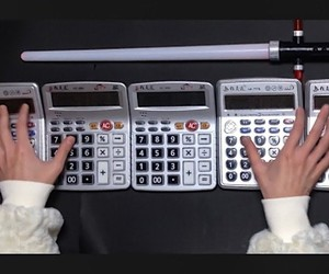 Performing Star Wars song on four calculators