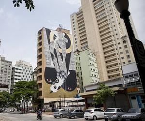 """Monochrome Phoenix"" Mural by 2501 & Speto"