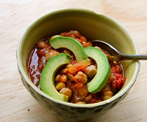 Sweet with Heat Vegetarian Chili