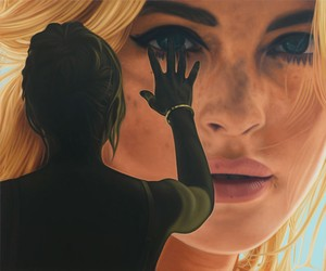 Richard Phillips large scale realistic paintings