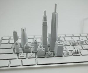 Virtual Internet City on Keyboard by Sang Un Jeon