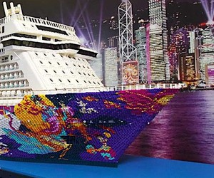 the largest cruise ship in the world made of LEGO